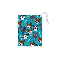 Face Dog And Bond Drawstring Pouches (xs)