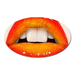 Glossy Lips Oval Magnet