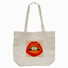 Glossy Lips Tote Bag (cream)