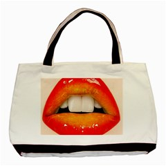 Glossy Lips Basic Tote Bag (two Sides) by AnjaniArt