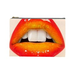 Glossy Lips Cosmetic Bag (large)  by AnjaniArt