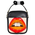 Glossy Lips Girls Sling Bags Front
