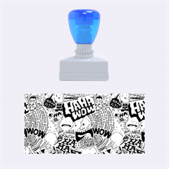 Haha Wow Pattern Rubber Stamps (medium)  by AnjaniArt