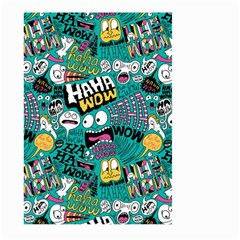 Haha Wow Pattern Large Garden Flag (Two Sides) by AnjaniArt