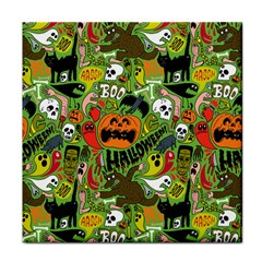 Halloween Pattern Tile Coasters