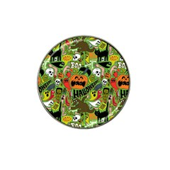 Halloween Pattern Hat Clip Ball Marker by AnjaniArt