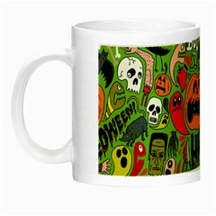 Halloween Pattern Night Luminous Mugs by AnjaniArt