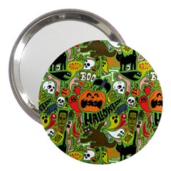 Halloween Pattern 3  Handbag Mirrors by AnjaniArt