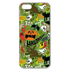 Halloween Pattern Apple Seamless Iphone 5 Case (clear) by AnjaniArt