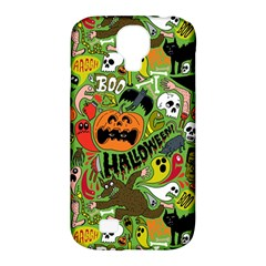 Halloween Pattern Samsung Galaxy S4 Classic Hardshell Case (pc+silicone) by AnjaniArt