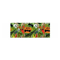 Halloween Pattern Satin Scarf (oblong) by AnjaniArt