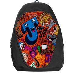 J Pattern Cartoons Backpack Bag by AnjaniArt