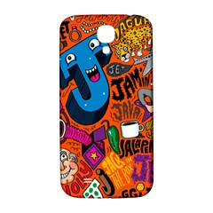 J Pattern Cartoons Samsung Galaxy S4 I9500/i9505  Hardshell Back Case by AnjaniArt