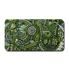 Green Boho Flower Pattern Zz0105 Medium Bar Mat by Zandiepants