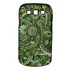 Green Boho Flower Pattern Zz0105 Samsung Galaxy S Iii Classic Hardshell Case (pc+silicone) by Zandiepants