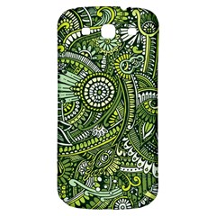 Green Boho Flower Pattern Zz0105 Samsung Galaxy S3 S Iii Classic Hardshell Back Case by Zandiepants