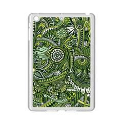 Green Boho Flower Pattern Zz0105 Apple Ipad Mini 2 Case (white) by Zandiepants