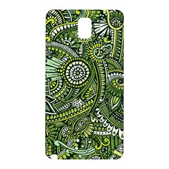Green Boho Flower Pattern Zz0105 Samsung Galaxy Note 3 N9005 Hardshell Back Case by Zandiepants