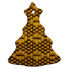Golden Pattern Fabric Ornament (Christmas Tree) by Zeze