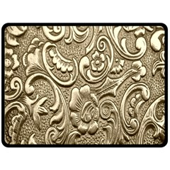 Golden European Pattern Double Sided Fleece Blanket (Large)  by Zeze