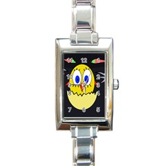 Chicken Rectangle Italian Charm Watch by Valentinaart
