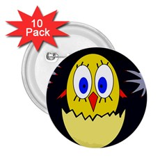 Chicken 2 25  Buttons (10 Pack)  by Valentinaart