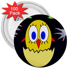 Chicken 3  Buttons (100 Pack)  by Valentinaart