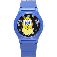 Chicken Round Plastic Sport Watch (s) by Valentinaart