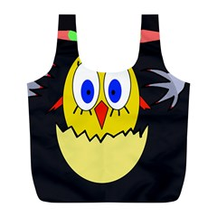Chicken Full Print Recycle Bags (l)  by Valentinaart