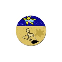 Sunbathing Golf Ball Marker (10 Pack) by Valentinaart