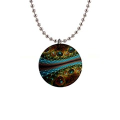 Fractal Snake Skin Button Necklaces by Zeze