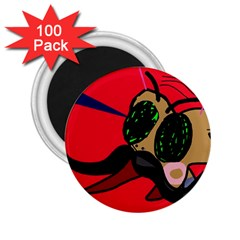 Mr Fly 2 25  Magnets (100 Pack)  by Valentinaart