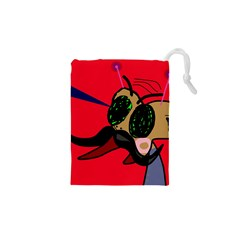 Mr Fly Drawstring Pouches (xs)  by Valentinaart