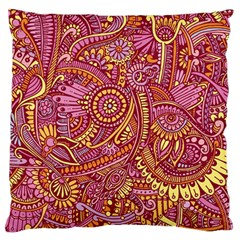 Pink Yellow Hippie Flower Pattern Zz0106 Standard Flano Cushion Case (two Sides) by Zandiepants