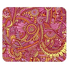 Pink Yellow Hippie Flower Pattern Zz0106 Double Sided Flano Blanket (small) by Zandiepants