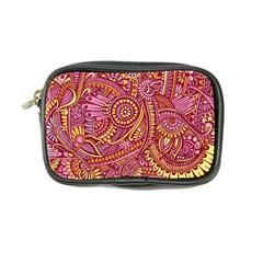 Pink Yellow Hippie Flower Pattern Zz0106 Coin Purse by Zandiepants