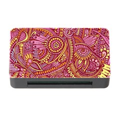 Pink Yellow Hippie Flower Pattern Zz0106 Memory Card Reader With Cf by Zandiepants