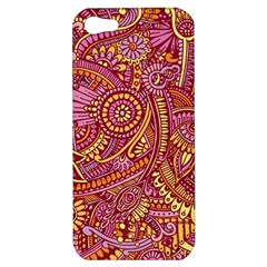 Pink Yellow Hippie Flower Pattern Zz0106 Apple Iphone 5 Hardshell Case by Zandiepants