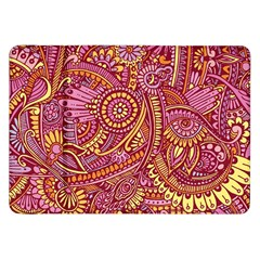 Pink Yellow Hippie Flower Pattern Zz0106 Samsung Galaxy Tab 8 9  P7300 Flip Case by Zandiepants