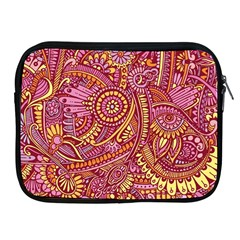 Pink Yellow Hippie Flower Pattern Zz0106 Apple Ipad 2/3/4 Zipper Case by Zandiepants