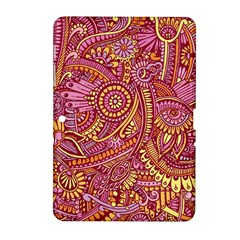 Pink Yellow Hippie Flower Pattern Zz0106 Samsung Galaxy Tab 2 (10 1 ) P5100 Hardshell Case  by Zandiepants
