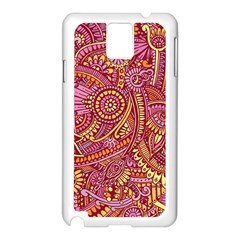 Pink Yellow Hippie Flower Pattern Zz0106 Samsung Galaxy Note 3 N9005 Case (white) by Zandiepants