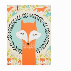 Foxy Fox Art Print Traditional Large Garden Flag (Two Sides) by Zeze
