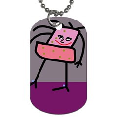 Sponge Girl Dog Tag (two Sides) by Valentinaart