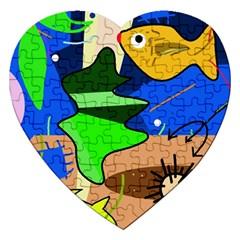 Aquarium  Jigsaw Puzzle (heart) by Valentinaart