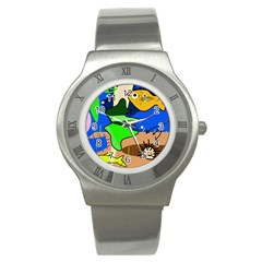 Aquarium  Stainless Steel Watch by Valentinaart