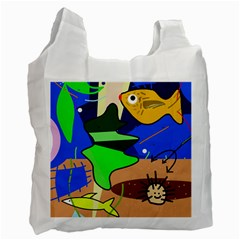Aquarium  Recycle Bag (two Side)  by Valentinaart