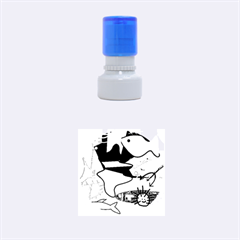 Aquarium  Rubber Round Stamps (small) by Valentinaart