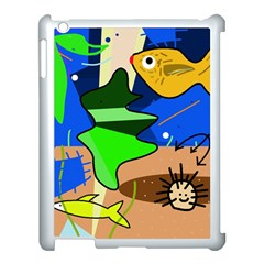 Aquarium  Apple Ipad 3/4 Case (white) by Valentinaart