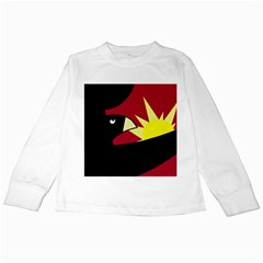 Eagle Kids Long Sleeve T Shirts by Valentinaart